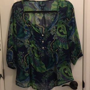 Old Navy sheer boho top, size XS. Adorably cute!